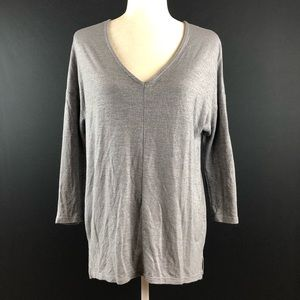 Gap Gray Shimmer Tunic Top